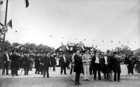 The launch of the Millenáris sports ground in 1896 (Magyar Nemzet)