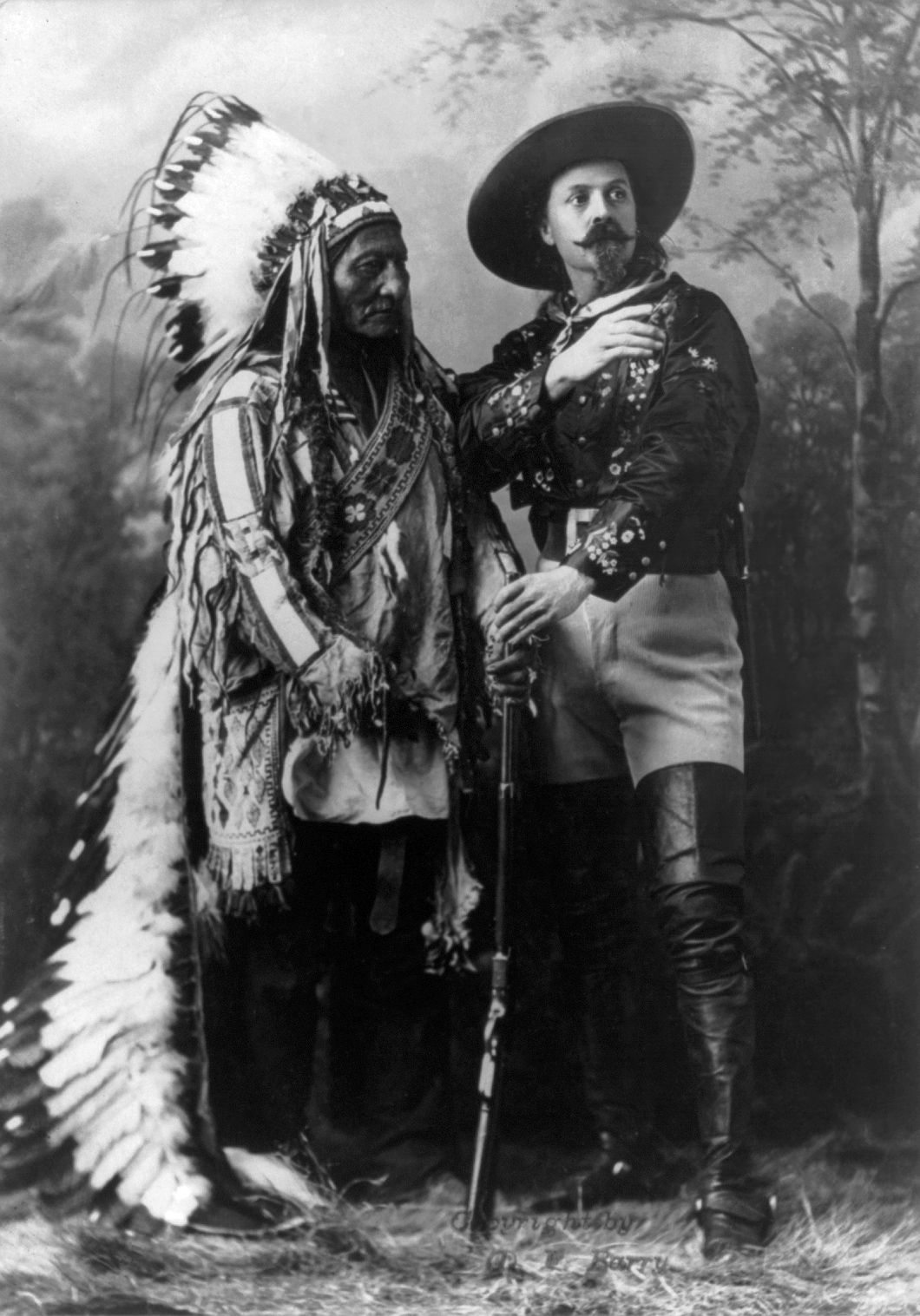 Sitting Bull and Buffalo Bill (William Notman studios,1895)