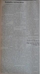 Szabadka kórház-város. Az Est, 1914. szeptember 18.