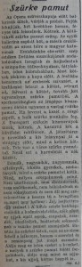 Szürke pamut. Az Est, 1914. szeptember 5.