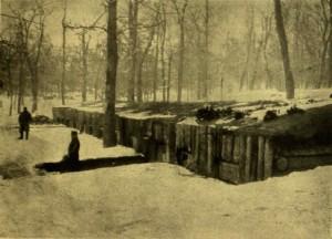 Frontszínház - kívülről. Vasárnapi Újság, 1917