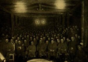 Frontszínház nézőtere. Vasárnapi Újság, 1917