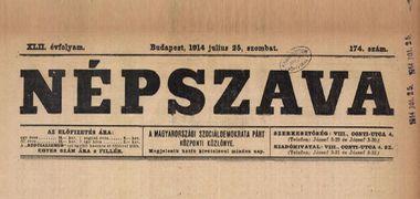Népszava, 1914