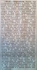 Kölcsön a középosztálynak. Pesti Napló, 1915. február 5.