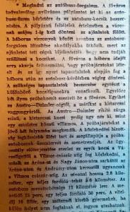 Megindul az autóbusz-forgalom. Pesti Napló, 1915. február 7.