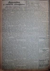 Ágyútűzben a cattarói országúton. Az Est, 1914. december 18.