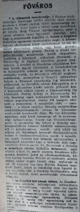 A villamosok menetrendje. Pesti Napló, 1915. április 20.