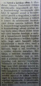 Szerző a kritikus ellen. Az Est, 1915. február
