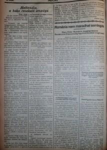 Hollandia, a béke reszkető országa. Az Est, 1915. február 3.