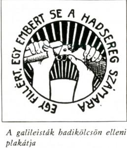 A galileisták hadikölcsön elleni plakátja