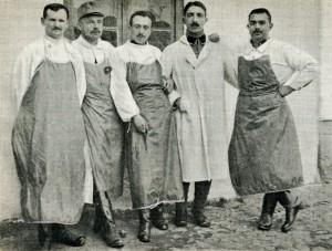 Hadifogoly orvosok Kragujevácban 1915-ben (Forrás: Hadifogoly magyarok története)