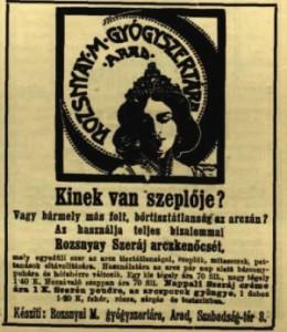 Rozsnyay Szeráj arckenőcs (Vasárnapi Újság)