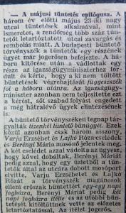 A májusi tüntetés epilógusa.  Az Est, 1915. június 10.