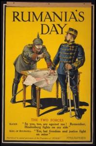 Plakát a román hadbalépésről, 1916 (wikipedia)