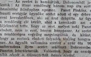 Az ecetet is hamisítják. Pesti Napló, 1915. november 1.