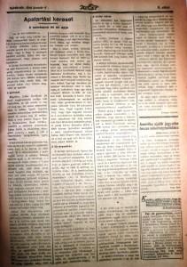 Fényes László: Apatartási kereset. Az Est, 1916. január 6.
