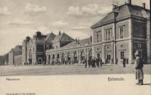 A kolozsvári pályaudvar az 1900-as évek elején