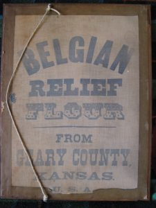 Relief for Belgium liszteszsák, műalkotás (Forrás: Europeana)