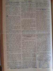 A politika eseményei. Pesti Napló, 1916. augusztus 9.