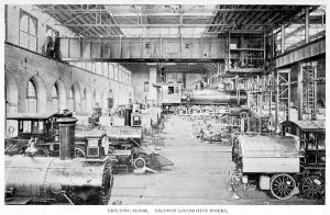 A Baldwin mozdonygyár, ahol több mint 5500 mozdony készült az antant vasúthálózatának (wikipedia)