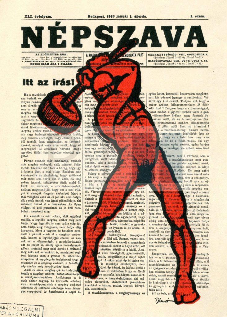 A vöröskalapácsos ember (Forrás: PIL)