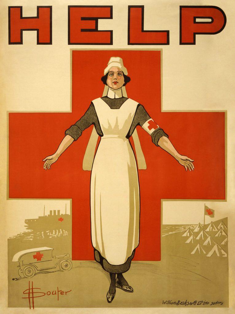 Vöröskeresztes plakát (Forrás: wikipedia)