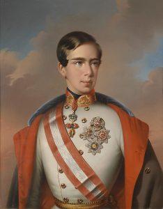 Eduard Klieber Ferenc József-portréja 1853-ból (Wikipedia)