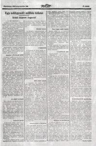 Tarján Vilmos: Egy nőiügynök milliós üzletei. Az Est, 1916. szeptember 24.