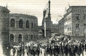 Ferenc József látogatása Veronában, 1853 (Webers Volkskalender, Sächsische Landesbibliothek – Staats- und Universitätsbibliothek Dresden)